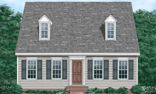 Early American Cape Cod House Plans Design