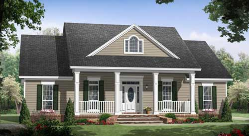 House 29269 blueprint details floor plans for American style mansions