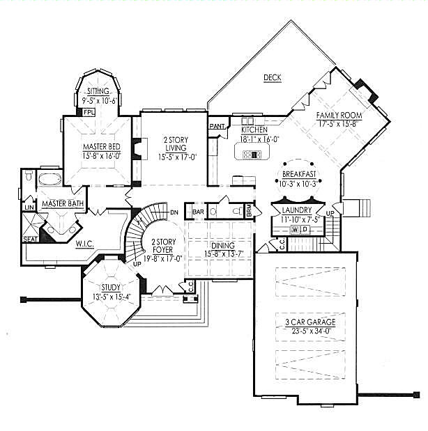 main floor house blueprint
