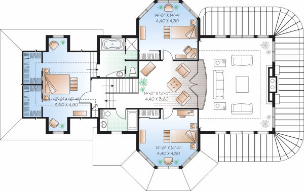 Hawaii Tiny House Treehouse Built Vacations Cost Kristie Wolfe likewise Two Floor Beach House Blueprints as well 006h 0007 furthermore 1120 Sq Ft Floor Plans likewise Small Vacation Home Wraps Around Large Private Courtyard. on small vacation home floor plans