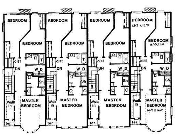 House 28551 blueprint details floor plans upper floor house blueprint this contemporary home blueprint features three bedrooms and malvernweather Choice Image