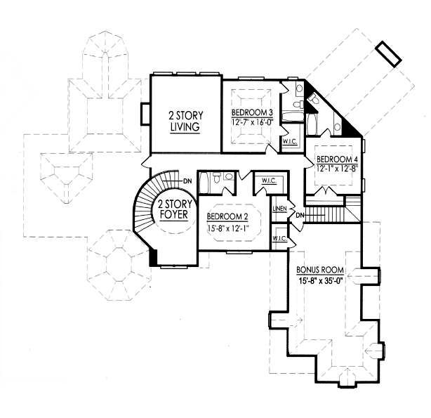 upper floor house blueprint